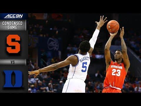 Syracuse vs. Duke Condensed Game | 2018-19 ACC Basketball