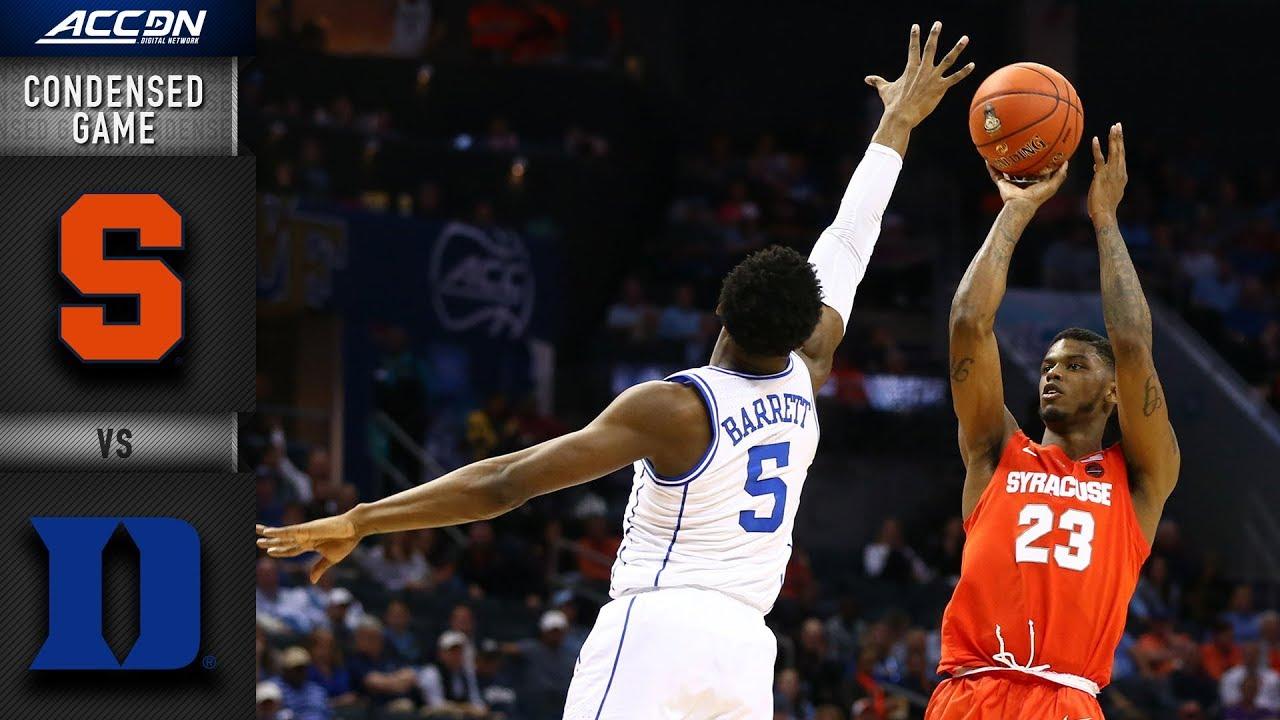 Syracuse Vs Duke Condensed Game 2018 19 Acc Basketball