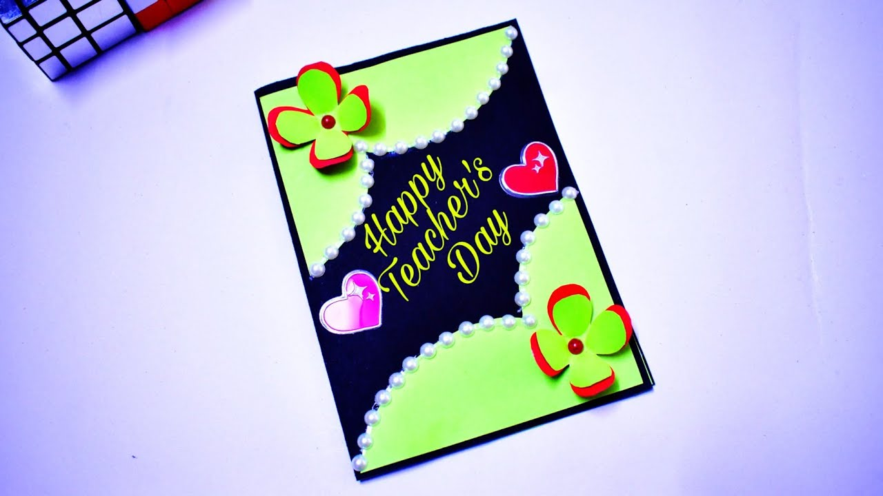 2020 diy teacher's day card  easy and beautiful happy