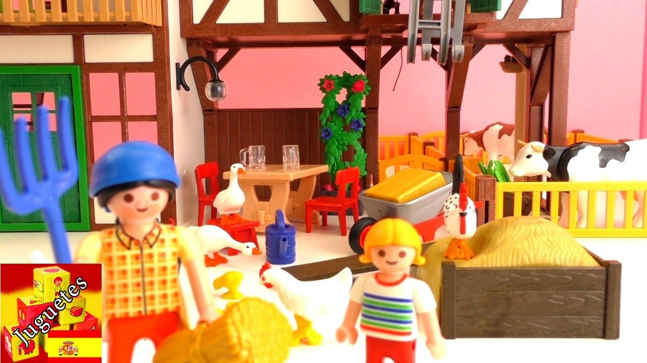 Tour por la granja de playmobil youtube for La granja de playmobil precio
