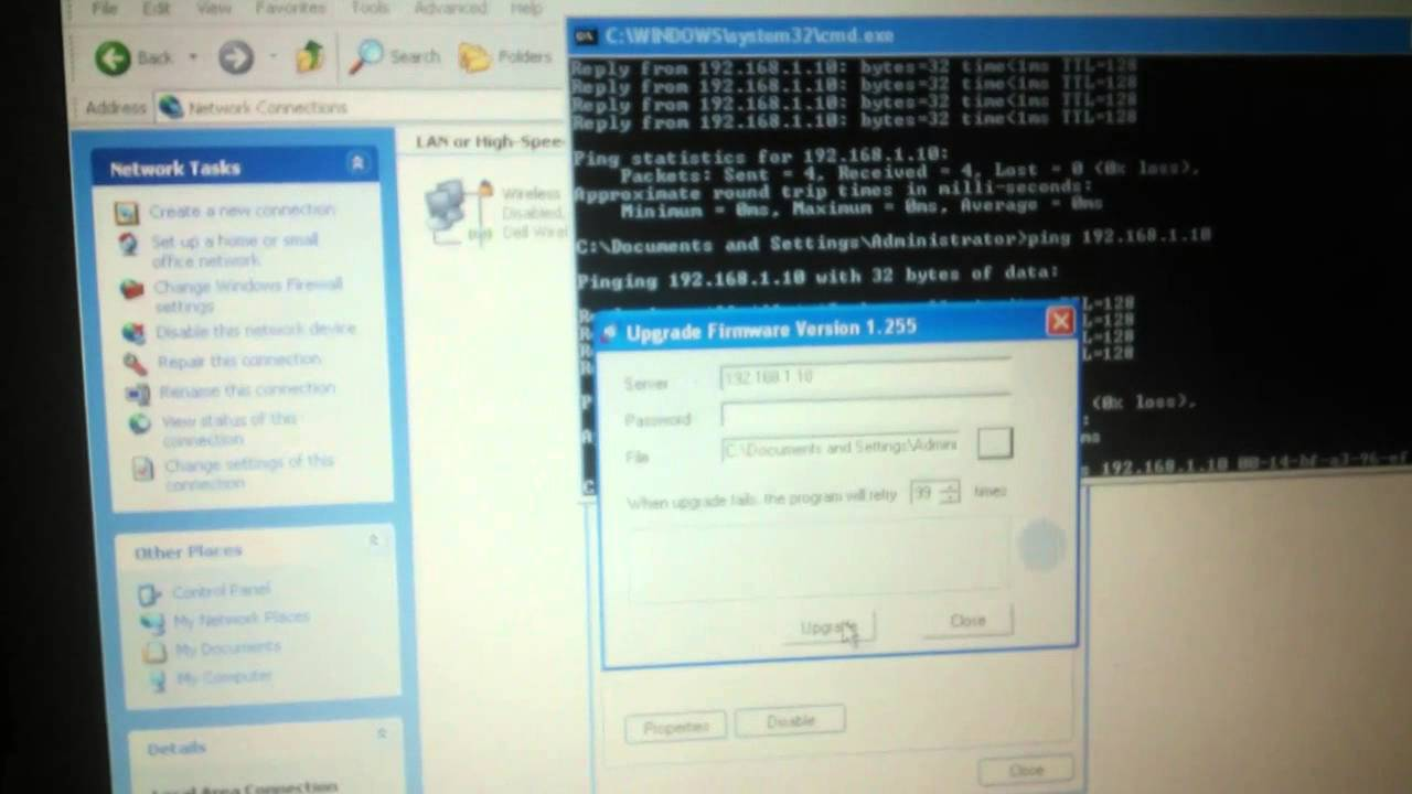 Unbrick a Linksys WRT54G router with DD WRT and TFTP