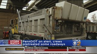Road Crews Prepping Ahead Of Arrival Of Wintry Mix