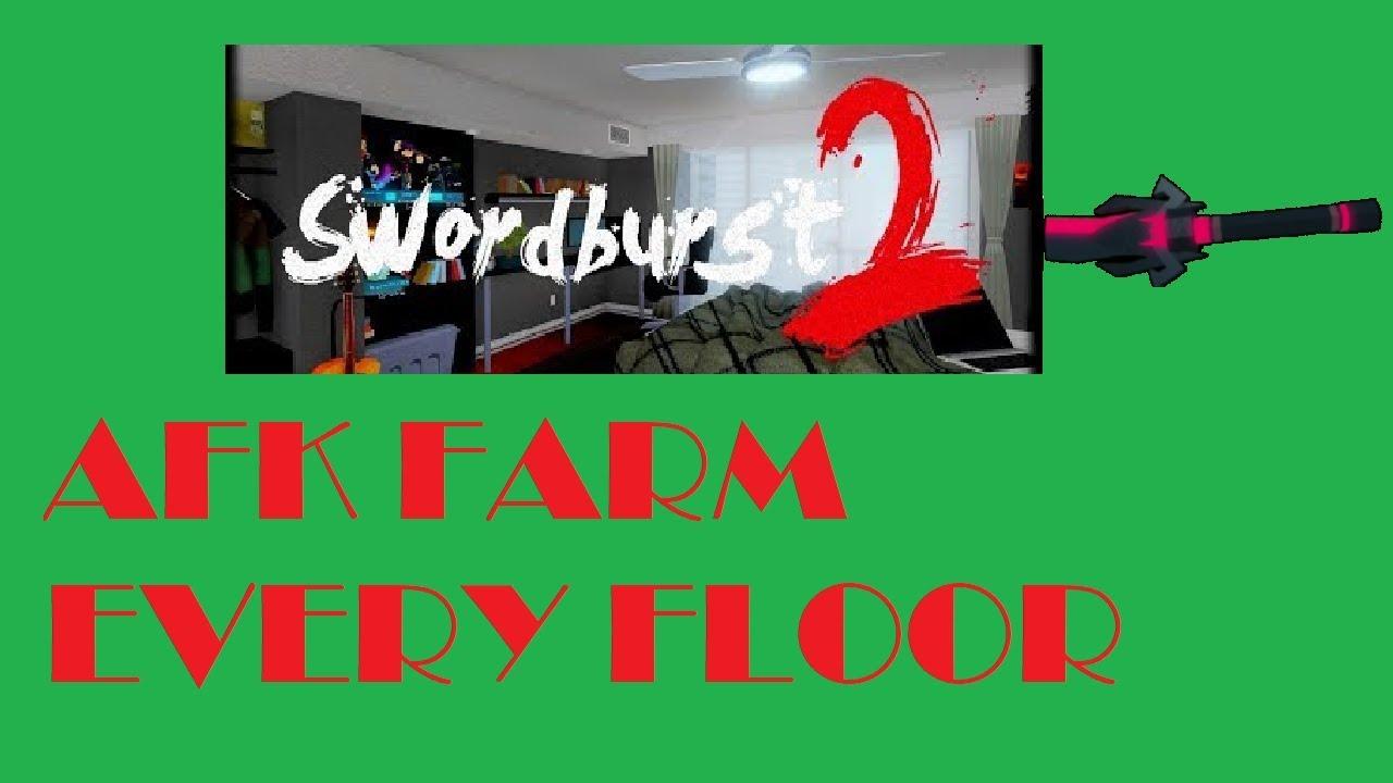 Roblox - Swordburst 2 - How to AFK farm every floor - Most