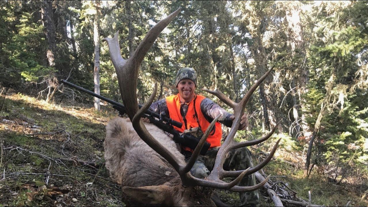 Amazing Shot at a RUNNING ELK/ Wyoming Elk Hunt - Stuck N the Rut 102