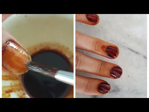 DIY:NATURAL PERMANENT  NAIL PAINT WITH JAGGERY/GURR ARQ