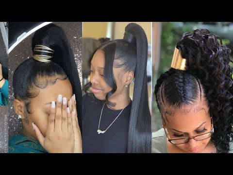 2021 Packing Gel Ponytail Hairstyles Uwouldlove 2k20 Must Watch Youtube