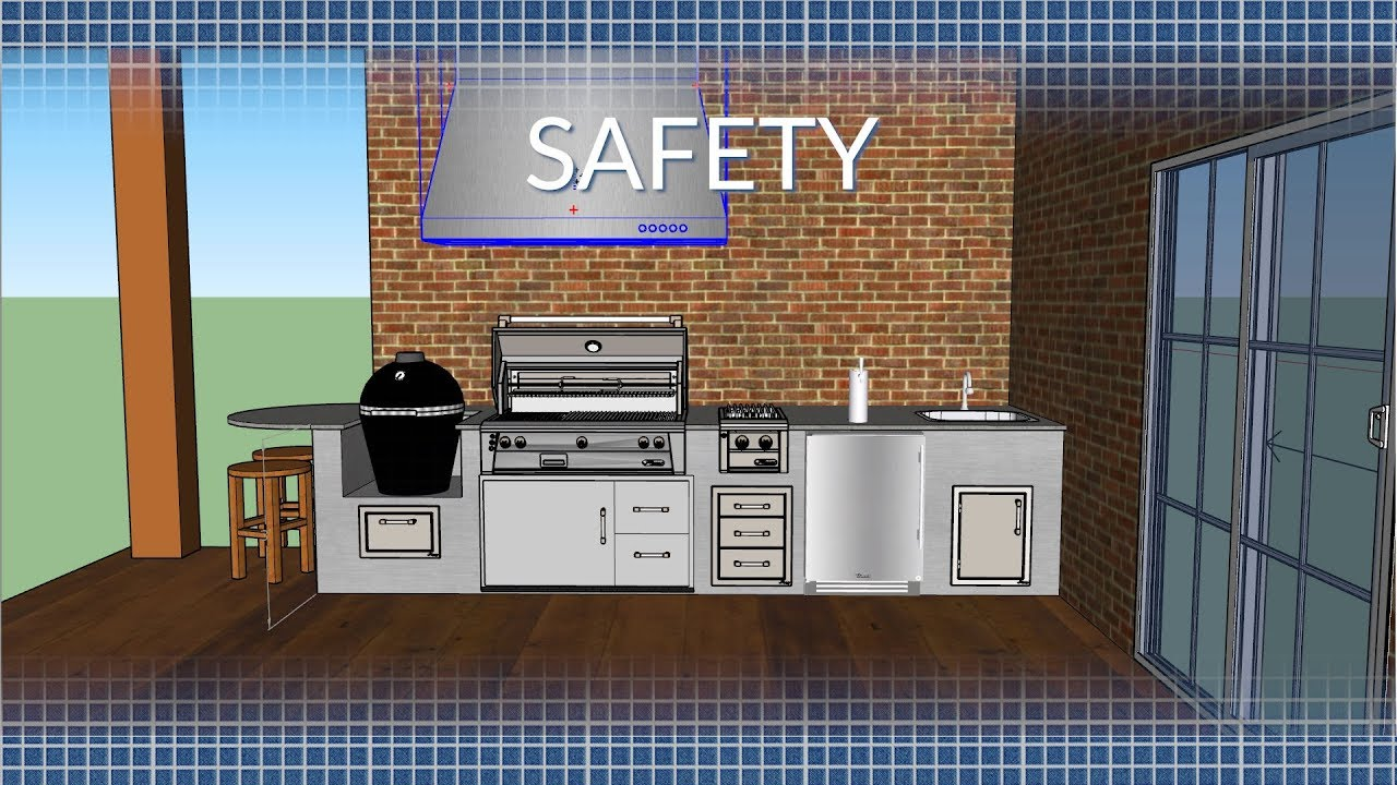 Outdoor Kitchen Safety Amp Ventilation Bbqguys Com Youtube