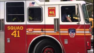FDNY SQUAD 41 TAKING UP FROM A FIRE & GOING TO ANOTHER FROM MORRIS AVE. IN THE BRONX, NEW YORK CITY.