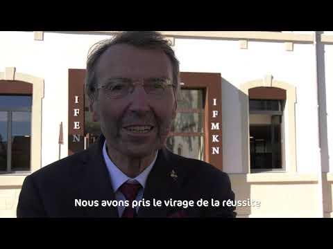 Inauguration de l'institut paramédicale des métiers de la rééducation à Nevers