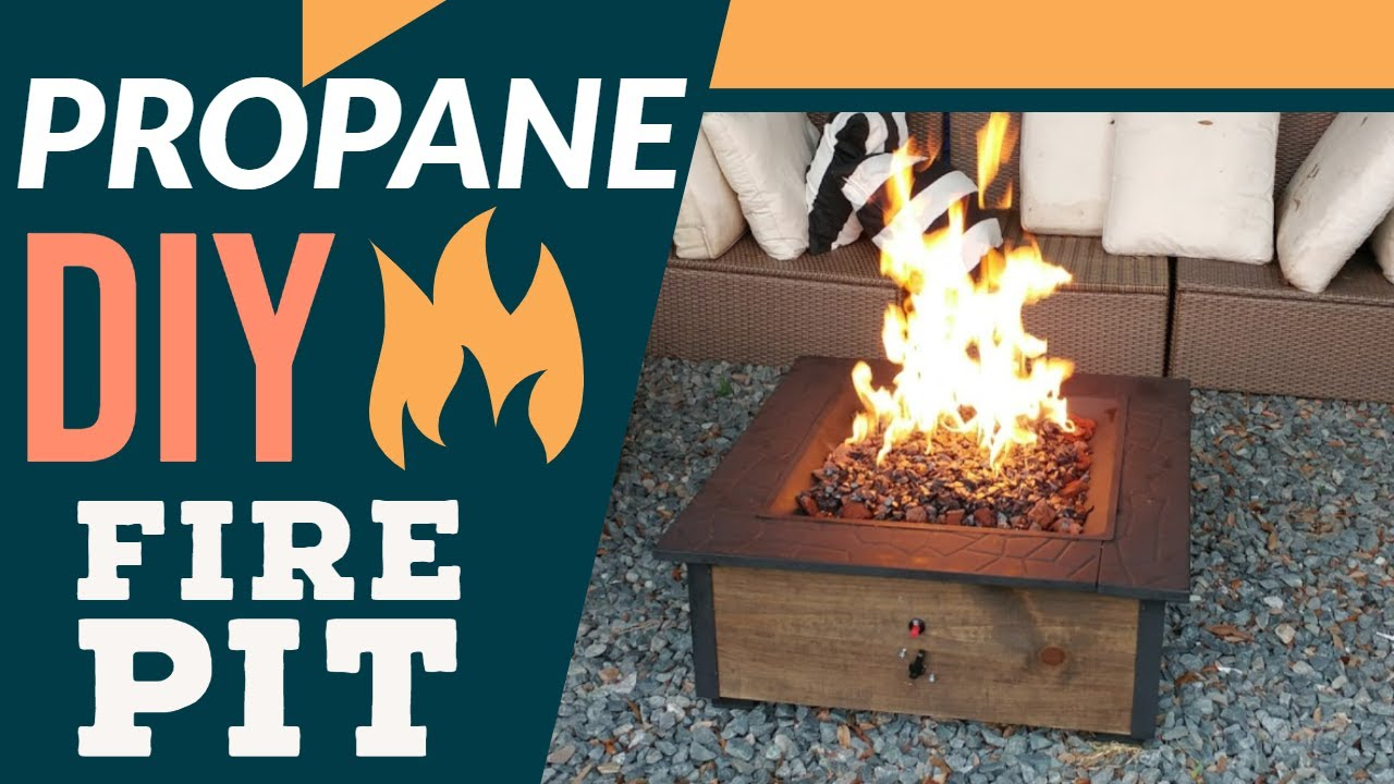 Cheap DIY Propane Fire Pit - Step By Step Instructions - Cheap DIY Propane Fire Pit - Step By Step Instructions - YouTube