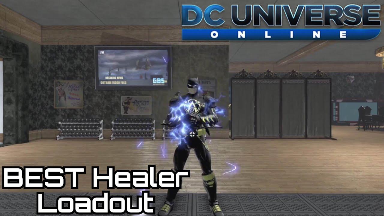 dcuo best electricity healer loadout youtube