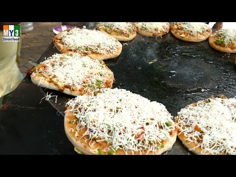 ROAD SIDE PIZZA IN MUMBAI Fashion Street    4K VIDEO   4K ULTRA HD VIDEO street food thumbnail