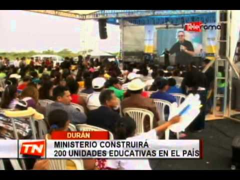 Ministerio construirá 200 unidades educativas en el país