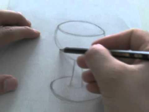 le on de dessin dessiner un verre vin youtube. Black Bedroom Furniture Sets. Home Design Ideas