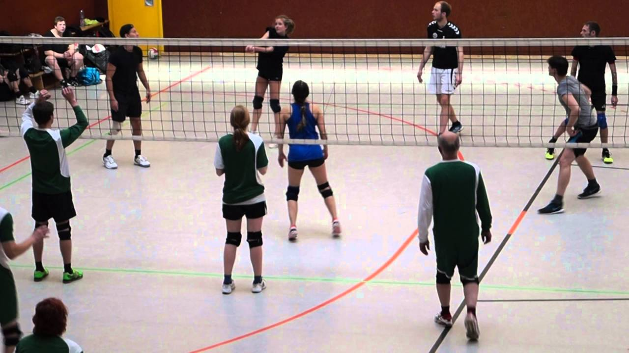 Mixed Volleyball Turnier Krempe 6.Spiel - YouTube