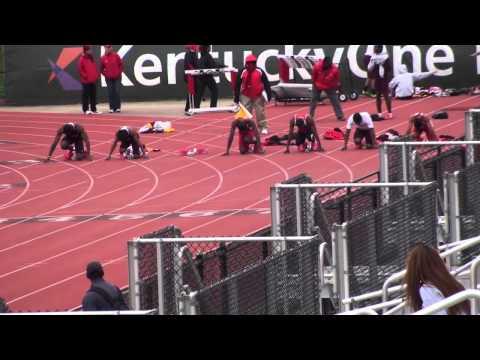 Louisville 21 Apr 2013 - 100m (M) Heat 2 - Lenny Lyles/Clark Wood Invite