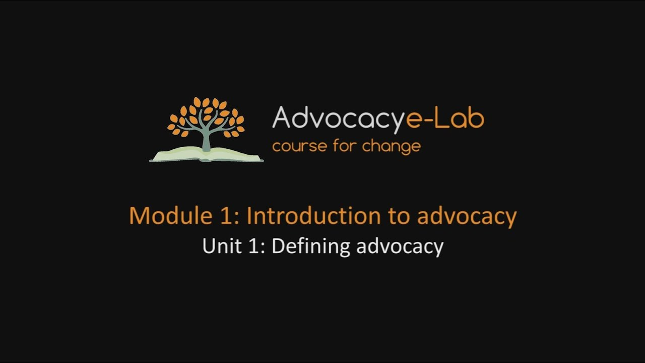 an introduction to the awareness and advocating for change Advocacy communications a handbook for anew members introduction to advocacy communications 5 change policies and practices.