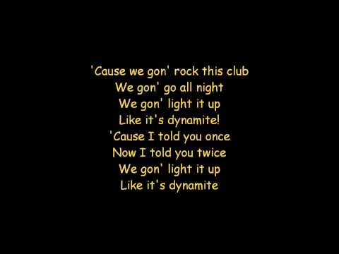 Taio Cruz - Dynamite  (ON SCREEN LYRICS)