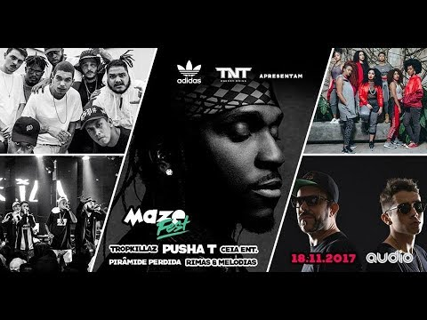 Pusha T Pirâmide Perdida Ceia Ent e Rimas & Melodias @ Maze Fest