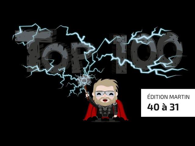 Top 100 de la Zone Jeux de Société (Version Martin) - 40 à 31