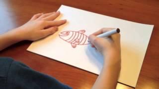 Hvordan tegne en fisk