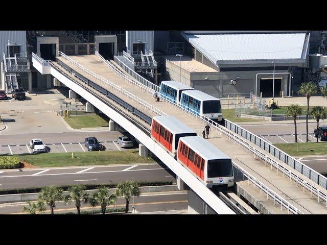 Airport Trams At Tampa International Airport & Boxcar Train In Florida, Airport Train Ride, Tampa Fl