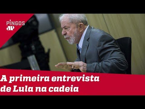 A primeira entrevista de Lula na cadeia
