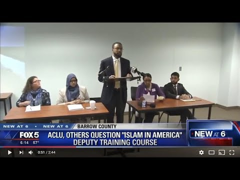 Video: CAIR-Georgia Director Says Islamophobic Bigots Should Not Train Law Enforcement Officers