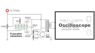 Oscillator Varactor Frequency Control circuit demo