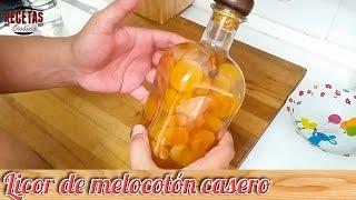 Licor de melocotón casero - Recetas de cocina