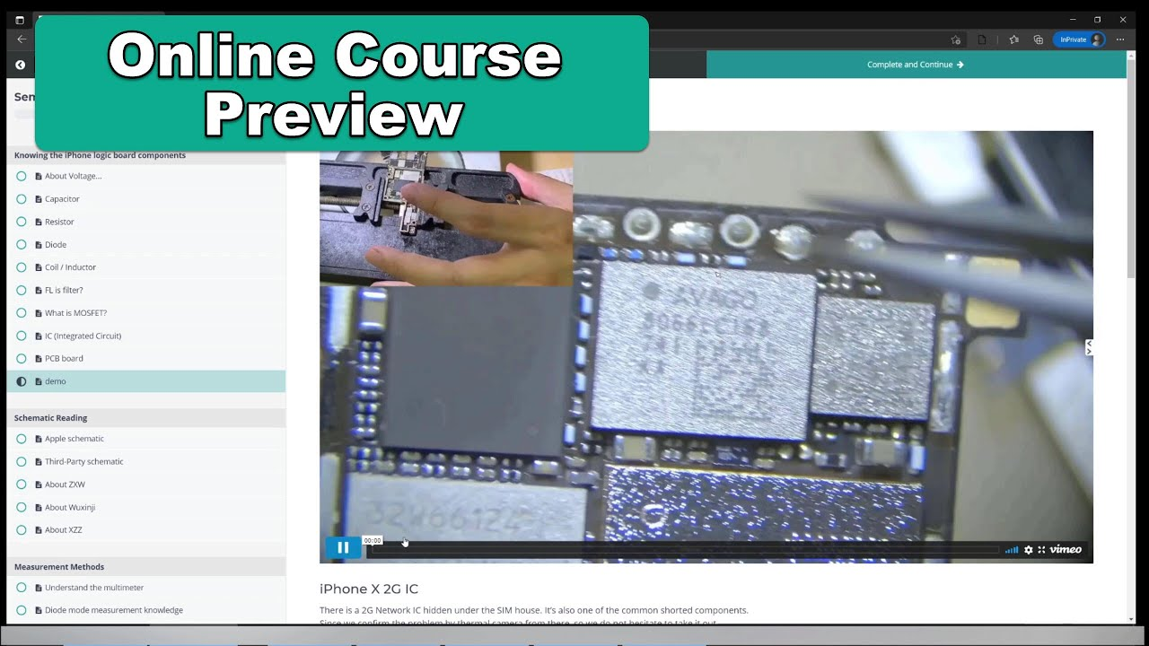 Online Course Quality Preview 【2021 iPhone Logic Board Repair】