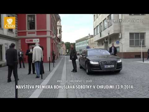 ČSSD CHRUDIM - PREMIÉR BOHUSLAV SOBOTKA V CHRUDIMI - 13.9.2014