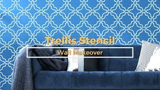 Detailed How To Stencil a Moroccan Trellis Design on a Feature Wall