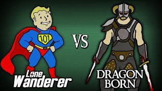 The Lone Wanderer vs The Dragonborn - Who Wins?