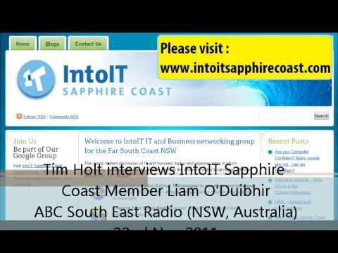 ABC South East Radio (NSW, Australia)  IntoIT Cloud Technologies Interview as WMW