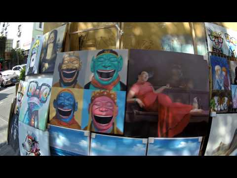 DaFen Oil Painiting village in Shenzhen vlogged with IDOLCAM