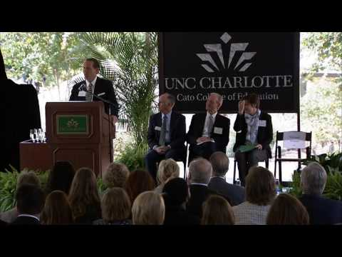 UNC Charlotte Cato College of Education Dedication