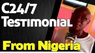 AIM GLOBAL - C24/7 Testimonial from Nigerian ( ARTHRITIS)