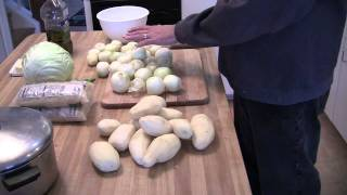 Preparing Pierogi - Step 1 - Pierogi Recipe Intro  And Potato And Onion Preparation