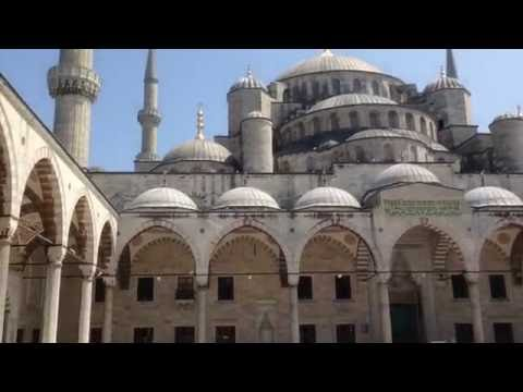 Blue Mosque with Adhan (Azan)  (SultanAhmet) Istanbul Turkey 2016