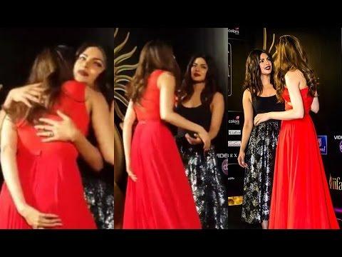 Deepika Padukone And Priyanka Chopra Hug At IIFA 2016