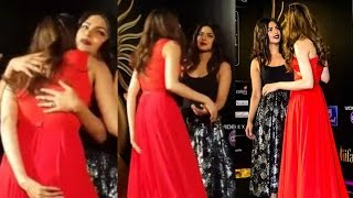 Deepika Padukone And Priyanka Chopra Hug At IIFA 2016