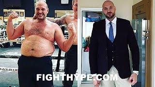 TYSON FURY STUNNING WEIGHT LOSS TRANSFORMATION; SERIOUS PROGRESS AFTER YEAR-LONG JOURNEY