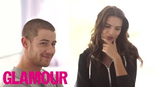 Nick Jonas & Emily Ratajkowski Answer Annoying Questions l The Spotlight | Glamour