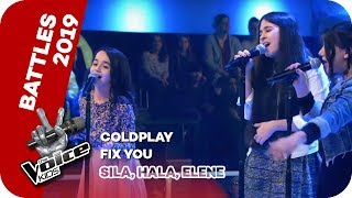 Coldplay - Fix You (Sila, Hala, Elene) | Battles | The Voice Kids 2019 | SAT.1