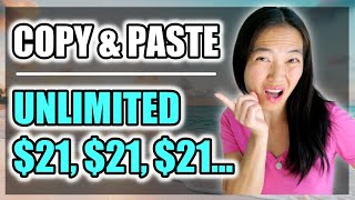 Earn 21 Over and Over Again COPY and PASTE Method Easy PayPal Cash