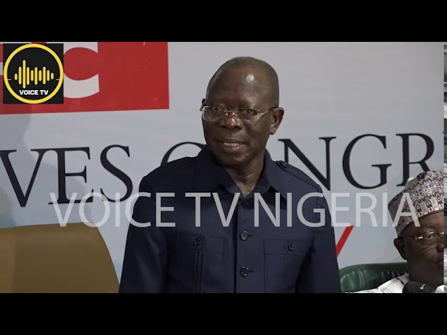 Full Video: Oshiomole Fires Back At PDP, Atiku, Others, Over IMO State Judgement By Supreme Court