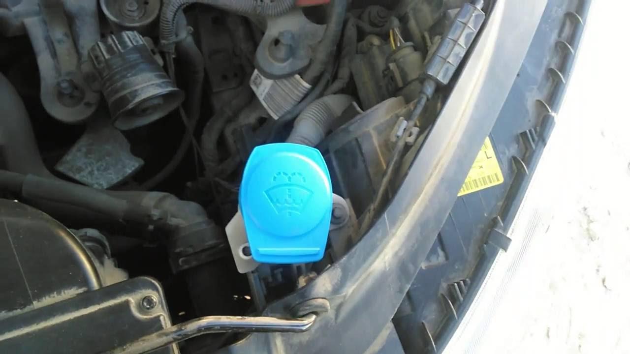 Замена форсунок омывателя и мойка бачка Nissan Terrano 2.7 diеsel