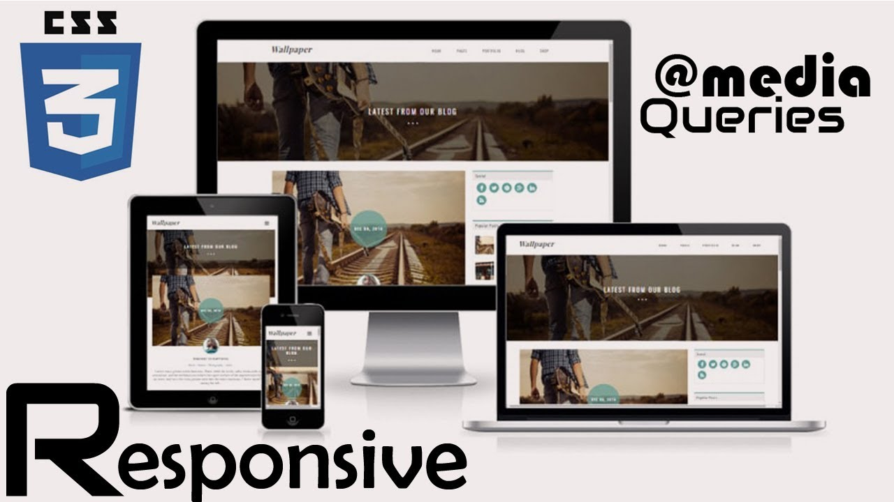 How To Use Css Media Queries In Responsive Web Design Css Media Queries Breakpoints Youtube