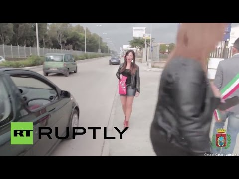 Italy: Councillors dressed as PROSTITUTES entrap motorists on the prowl